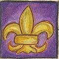Purple Fleur De Lis by Katie Sasser