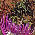 Purple Flower Abstract by Ana Gonzalez