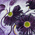 Purple Flowers by Jean Kieffer