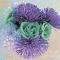 Purple Flowers by Marian Bell