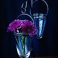 Purple Flowers Still Life by Kerri Mortenson
