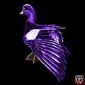 Purple Fractal Wigeon 7702 - Bb by James Ahn