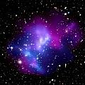 Purple Galaxy Cluster Macs J0717 by Astronomy Gift Shop
