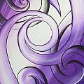 Purple Glass Koru by Reina Cottier