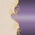 Purple Gold Chevron by Georgeta Blanaru