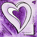 Purple Heart Love Painting Pop Art Blessed By Megan Duncanson by Megan Duncanson