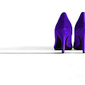 Purple High Heel Shoes by Natalie Kinnear