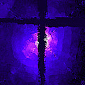 Purple Light Behind The Cross by Bruce Nutting
