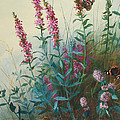 Purple Loosestrife And Watermind by Archibald Thorburn