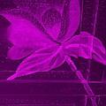 Purple Negative Wood Flower by Rob Hans