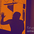 Purple Orange Figure Shadow by Christopher Shellhammer