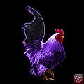 Purple Rooster Pop Art - 4602 - Bb - James Ahn by James Ahn