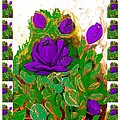 Purple Roses From The Garden 2 by Saundra Myles