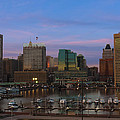 Purple Sky Above Downtown Baltimore by Cityscape Photography