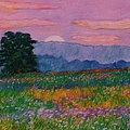 Purple Sunset On The Blue Ridge by Kendall Kessler