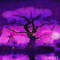 Purple Tree Of Life by Pixel Chimp