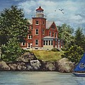 Put-in-bay Lighthouse by Terri  Meyer