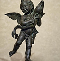Putto With Dolphin By Verrocchio by Melany Sarafis