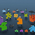 Puzzle Family by Gianfranco Weiss
