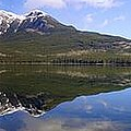 Pyramid Lake Mountain Reflections - Jasper, Alberta by Ian Mcadie