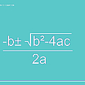 Quadratic Equation Aqua-white by Paulette B Wright