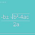 Quadratic Equation Aqua-white by Paulette B Wright