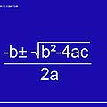 Quadratic Equation Blue-white by Paulette B Wright