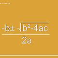 Quadratic Equation Orange-white by Paulette B Wright
