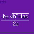 Quadratic Equation Violet-white by Paulette B Wright