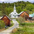 Quaint Vermont Village by Denis Tangney Jr