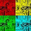 Quad Color Horses by Rob Hans