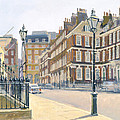 Queen Annes Gate Oil On Canvas by Julian Barrow