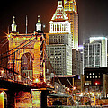 Queen City At Night by Keith Allen