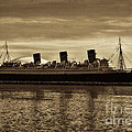 Queen Mary In Sepia by Tommy Anderson