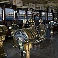 Queen Mary Ocean Liner Bridge 01 by Thomas Woolworth