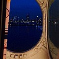 Queen Mary Port Hole Night  by Susan Garren