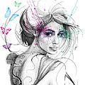 Queen Of Butterflies by Olga Shvartsur