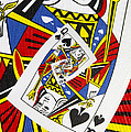Queen Of Spades Collage by Kurt Van Wagner