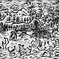 Queiros Voyages, 1613 by Granger