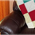 Quilt Beside A Fireplace by Barbara Griffin