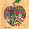 Quilted Apple by Carol Neal