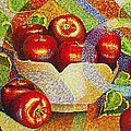 quilted Apples by JAXINE Cummins