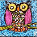 Quilted Judge Owl by Jim Harris