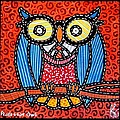 Quilted Professor Owl by Jim Harris