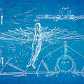 Quinby Flying Apparatus Patent Art 1872 Blueprint by Ian Monk