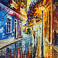 Quito Ecuador - Palette Knife Oil Painting On Canvas By Leonid Afremov by Leonid Afremov