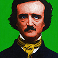 Quoth The Raven Nevermore - Edgar Allan Poe - Painterly - Green by Wingsdomain Art and Photography