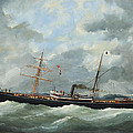 R. Bell And Co.s Steamship Bothal In A Heavy Swell by Edouard Adam