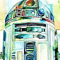 R2-d2 Watercolor Portrait by Fabrizio Cassetta