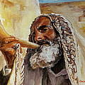 Rabbi Blowing Shofar by Carole Spandau